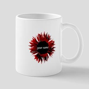 Red Flower Mugs