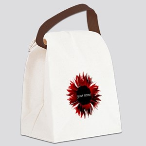 Red Flower Canvas Lunch Bag