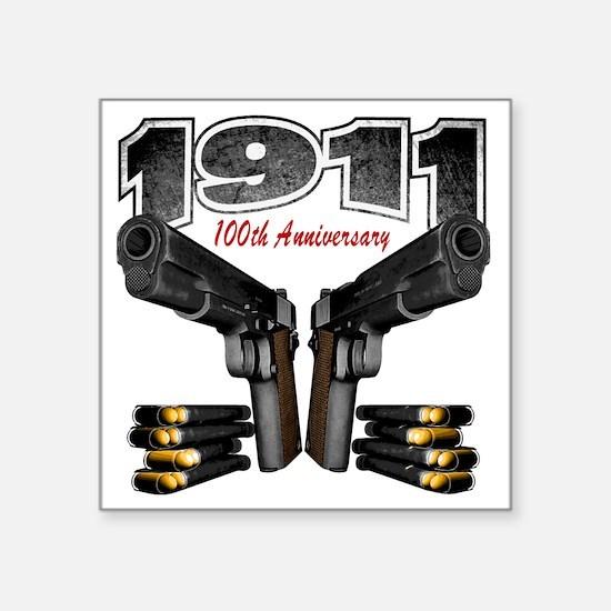 """1911_100th Square Sticker 3"""" x 3"""""""