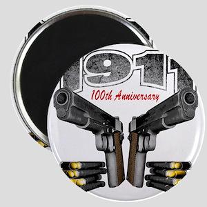 1911_100th_blk Magnet