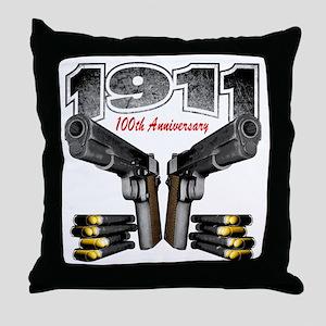 1911_100th_blk Throw Pillow