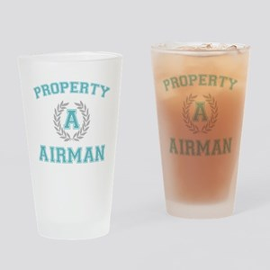 propertyofaairmanwhite Drinking Glass