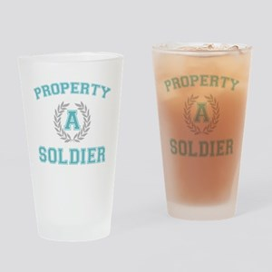 propertyofasoldierwhite Drinking Glass