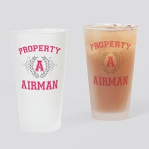 propertyofaairman2white Drinking Glass