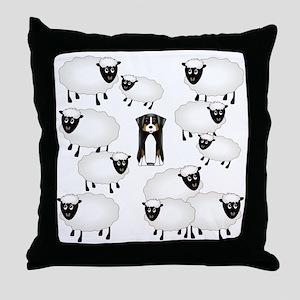 sheepies Throw Pillow