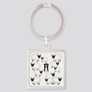 sheepies Square Keychain