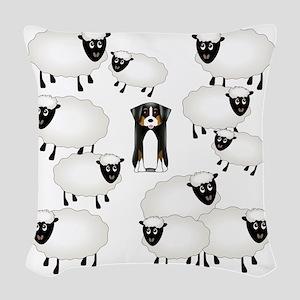sheepies Woven Throw Pillow
