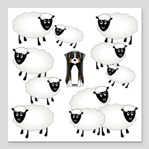 "sheepies Square Car Magnet 3"" x 3"""