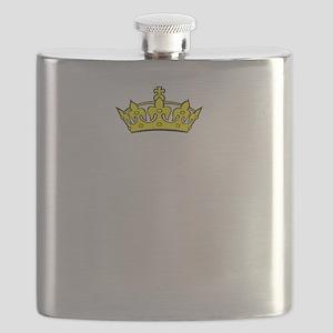 Daddys Princess White Flask