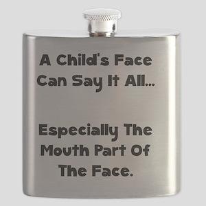 Childs Face Black Flask