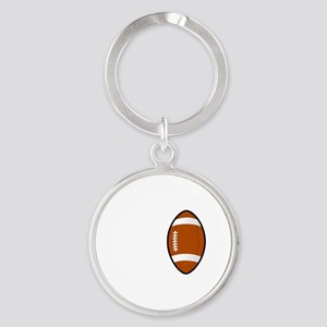 No Off Season Football White Round Keychain
