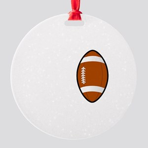 No Off Season Football White Round Ornament