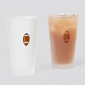 No Off Season Football White Drinking Glass