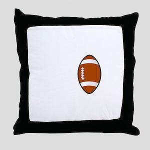 No Off Season Football White Throw Pillow