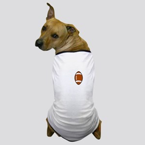 No Off Season Football White Dog T-Shirt