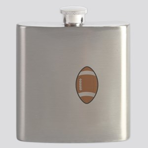 No Off Season Football White Flask