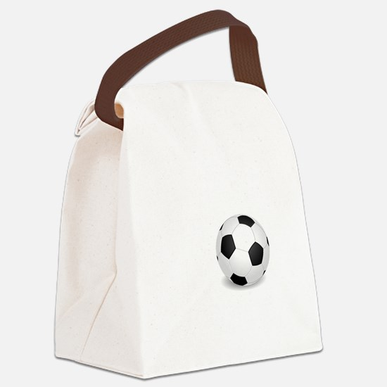No Off Season Soccer White Canvas Lunch Bag