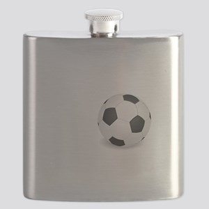 No Off Season Soccer White Flask