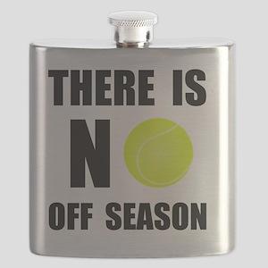 No Off Season Tennis Black Flask
