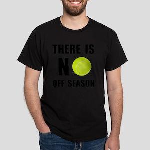 No Off Season Tennis Black Dark T-Shirt