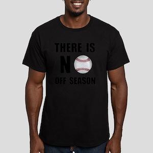 No Off Season Baseball Men's Fitted T-Shirt (dark)