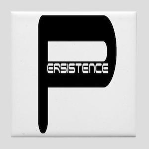 persistence jus p blk n wht Tile Coaster