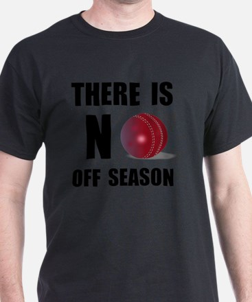 No Off Season Cricket Black T-Shirt