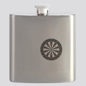 No Off Season Dart White Flask