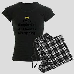 Simple Girl Black Women's Dark Pajamas