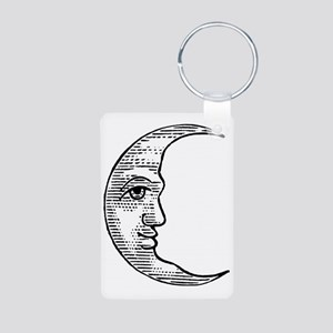 vintage-crescent-moon Aluminum Photo Keychain