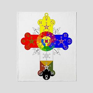 Rose_Cross_Lamen Throw Blanket