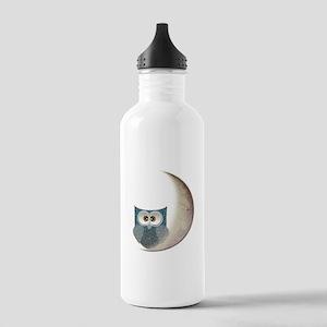 Owl on the Moon Water Bottle