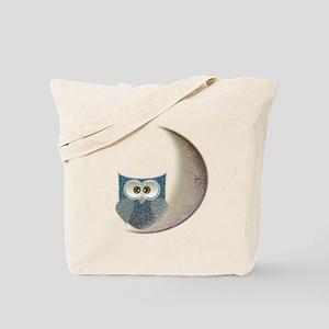 Owl on the Moon Tote Bag
