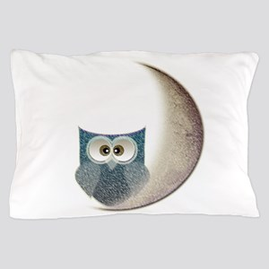 Owl On The Moon Pillow Case