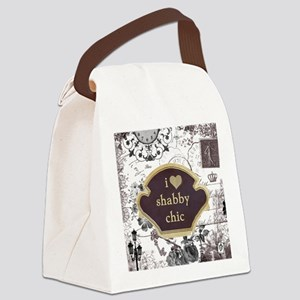 I Heart Shabby Chic Tote Bag Canvas Lunch Bag