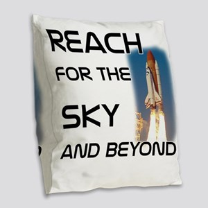reach for the sky and beyond Burlap Throw Pillow