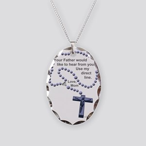 DirectLine2 Necklace Oval Charm