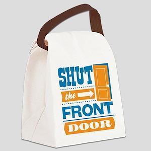 shutthefrontdoor Canvas Lunch Bag