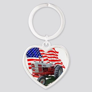 1961 Ford 6000-10 Heart Keychain