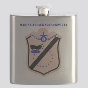 SSI - MARINE ATTACK SQUADRON 214 WITH TEXT Flask