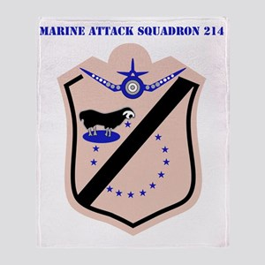 SSI - MARINE ATTACK SQUADRON 214 WIT Throw Blanket