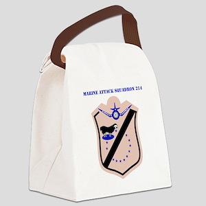 SSI - MARINE ATTACK SQUADRON 214  Canvas Lunch Bag
