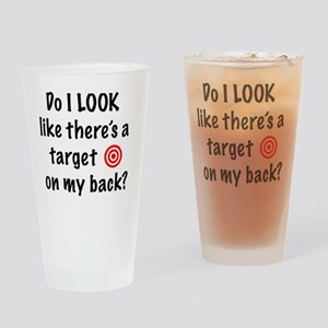 targetFront Drinking Glass
