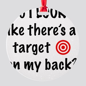 targetFront Round Ornament