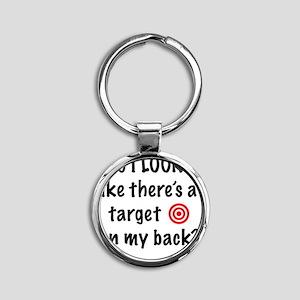 targetFront Round Keychain