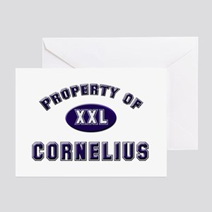 Property of cornelius Greeting Cards (Pk of 10