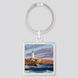 Peggys Cove Lighthouse  Square Keychain
