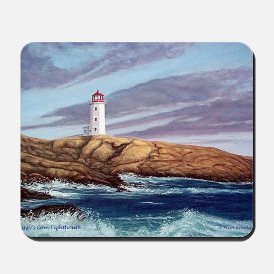 Peggys Cove Lighthouse png Mousepad