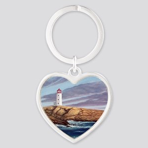 Peggys Cove Lighthouse  Heart Keychain