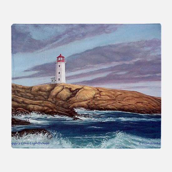 Peggys Cove Lighthouse png Throw Blanket